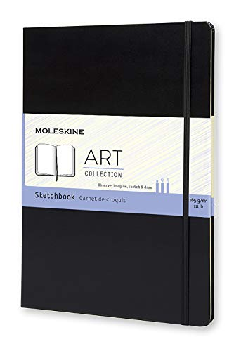 Moleskine Art Sketchbook, Hard Cover, A4 (8.25' x 11.75') Plain/Blank, Black