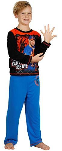 WWE Boys Jonh Cena Hustle, Loyalty, Respect Pajama Set, Long Sleeve, Size 6/7