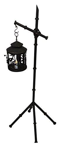 Bamboo Lantern Stand (37'' Bronze Iron Bamboo Candle Lantern Stand Set   Floor Standing Outdoor)