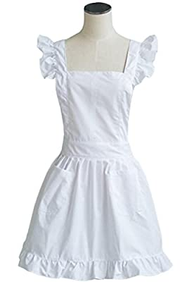 LilMents Petite Maid Ruffle Retro Apron Kitchen Cooking Cleaning Fancy Dress Cosplay Costume