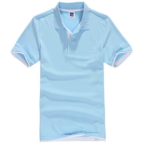 (Men's Polo Shirt Cotton Short Sleeve Shirt Sportspolo Jerseys Golftennis Plus Size Camisa Polos Homme)
