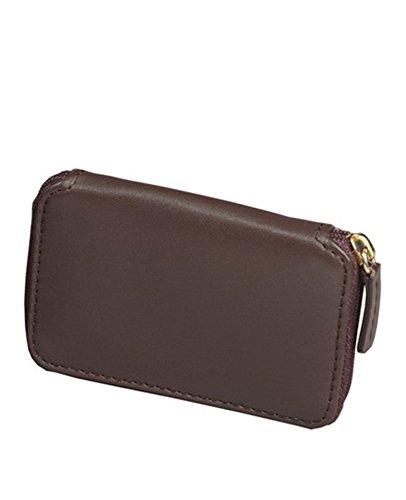 (Winn International Harness Cowhide Leather Bi-fold Wallet w/Key Rings in Brown)