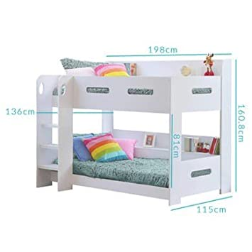 Sky Furniture White Kids Bunk Bed Ladder Can Be Fitted Either Side