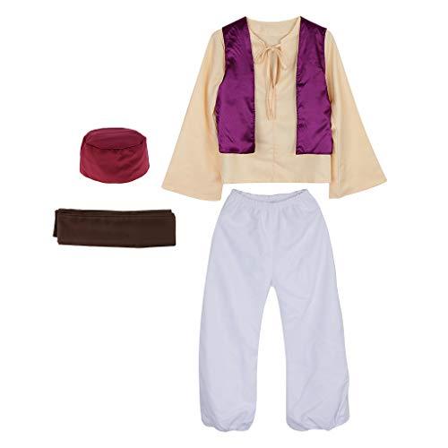 D DOLITY Príncipe árabe De Los Hombres Persia Indio Cosplay Anime Sheik árabe Traje De Halloween Camisa Pantalones...