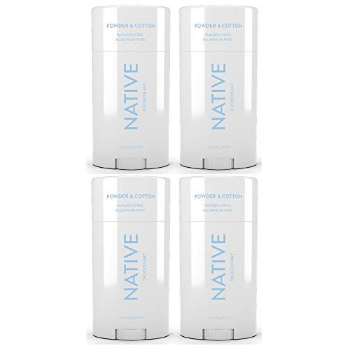 Native Deodorant Powder & Cotton 2.65oz (4 pack)