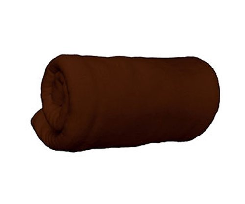 TowelSelections Fleece Throw Blanket - Super Soft Anti-Pill Blanket - Brown