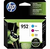 HP 952 Black, Cyan, Magenta & Yellow Ink Cartridges, 4 Cartridges (F6U15AN, L0S49AN, L0S52AN,L0S55AN)