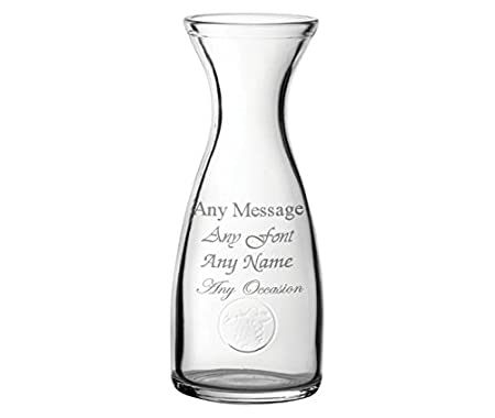 Personalised Engraved Wine Carafe Or Vase Decanter Birthday
