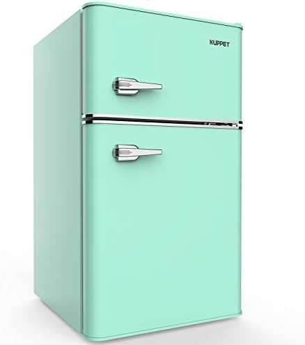 Amazon.com: Kuppet - Mini refrigerador compacto de 2 puertas ...