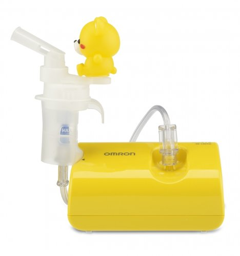 OMRON NE CS KDUK Inhalador infantil con compresor UK plug color amarillo