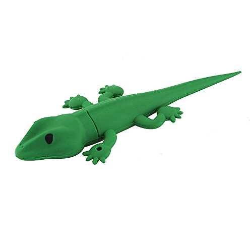 Usbkingdom 16GB USB 2.0 Flash Drive Cute Animal Green Gecko Lizard Shape Memory Stick Jump Drive Thumb Drives Flashdrive -