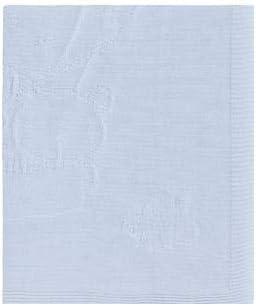 Pirulos Globo - Toquilla tricot, algodón, 95 x 95 cm, color azul: Amazon.es: Bebé
