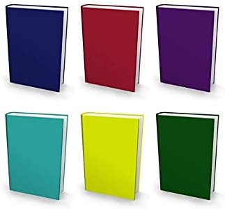 Adhesive-Free Fits Most Hardcover Textbooks up to 9 x 11 Wash /& Re-Use Book Sox Stretchable Book Cover: Jumbo 6 Ultra Color Value Pack Nylon Fabric School Book Protector Easy to Put On Jacket