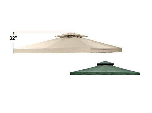 Universal 12' x 12' Two-Tiered Replacement Gazebo Canopy - RipLock 350 - Beige