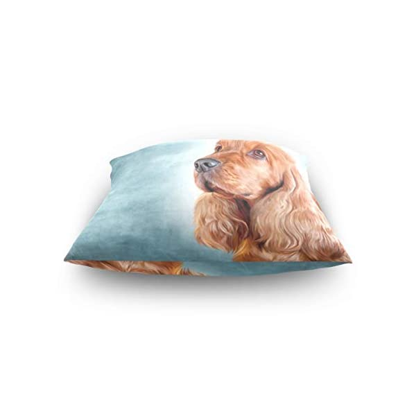 Cooper girl English Cocker Spaniel Portrait Throw Pillow Cover Pillowcase Cotton Cushion Cover 20x20 Inch for Couch Bed Sofa 4