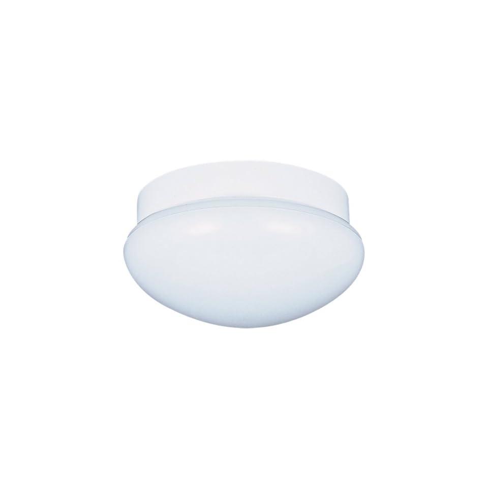 Sea Gull Lighting 7639 15 Ceiling Fixture, White Glass and White Aluminum, 2 Light