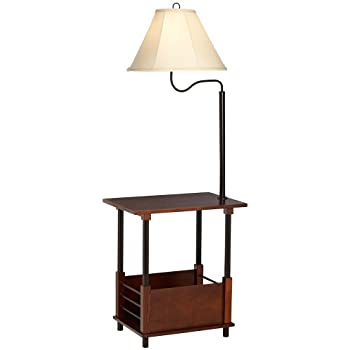 Captivating Marville Mission Style Swing Arm Floor Lamp With End Table
