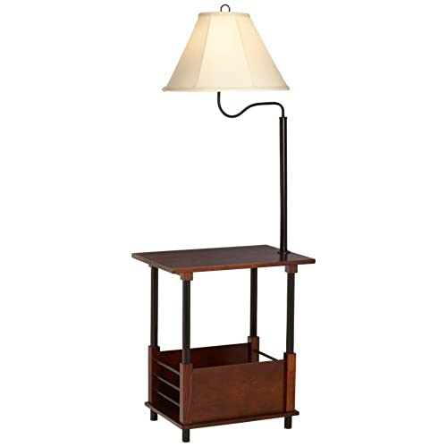 Floor lamps with table attached amazon marville mission style swing arm floor lamp with end table aloadofball Image collections