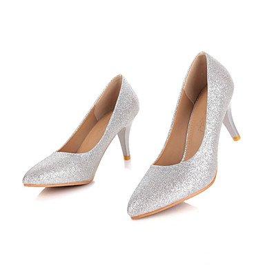 Talones de las mujeres Zapatos Primavera Verano Otoño Invierno Club de brillo personalizada Materiales banquete de boda y vestido de noche de lentejuelas de tacón de aguja Otros Fuchsia