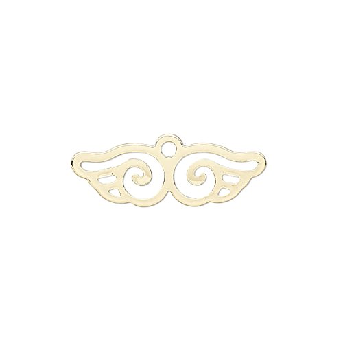 (Charm gold-finished steel 25x8mm wing with cutout-H20-B1993FN)