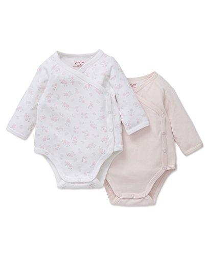 Baby Wrap Bodysuit - Little Me Baby 2 Pack Wrap Bodysuit, Petals, 9M