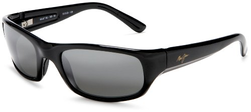 Maui Jim Stingray Sunglasses,Gloss Black Frame/Neutral Grey Lens,one size by Maui Jim