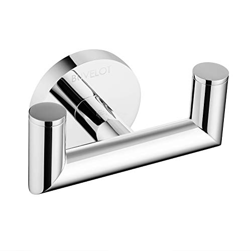 BUVELOT 077020-CR Leo Brass Double Robe Hook -