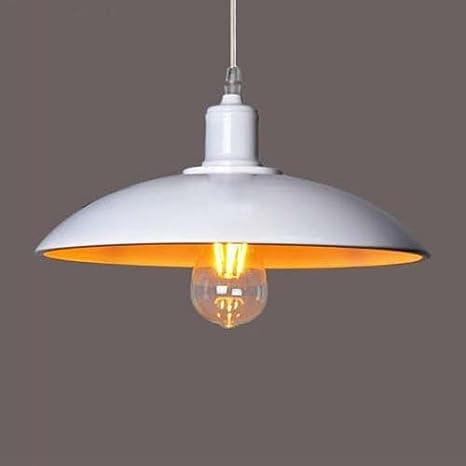 BAYCHEER Lámpara de techo, estilo industrial, Altura Regulable, Diámetro de 32 cm, Retro, paraguas, pantalla, multicolor, Weiß, E27, 40.00 wattsW, ...