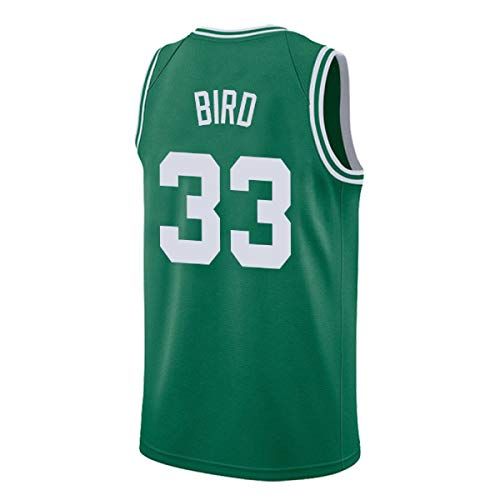 Youth Bird Jersey Boston 33 Kid's Basketball Jersey Larry Boy's Jerseys Green and White(S-XL) (Green, L)