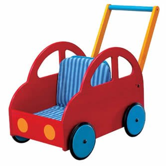 HABA Pushing Car Classic Walker Wagon (Made in Germany)