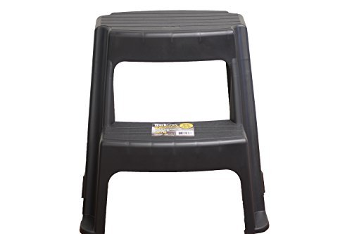 Work Crew MK-40797 2 Platic Step Stool (300 Pound Capacity) Plastic by Work Crew