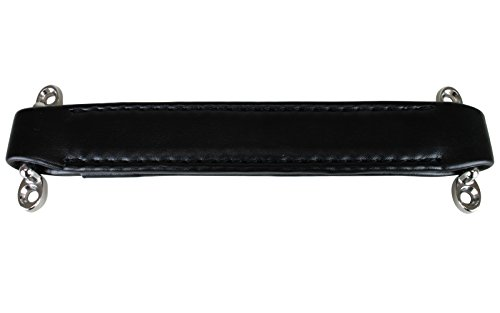 Penn Elcom H1008 Leather Style Replacement Strap Handle, Black with Black Stitching