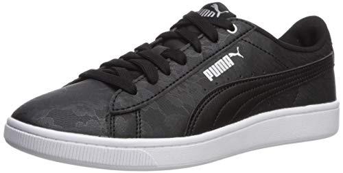PUMA Women's Vikky Sneaker Black Silver White, 9.5 M US ()