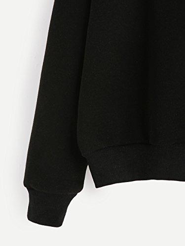 Tumblr Chica Invierno Negro ImpresióN Otoño De Adolescentes Sudaderas e Larga Princess Blusa Ropa Mujer Camiseta Letra Manga De wq15tx