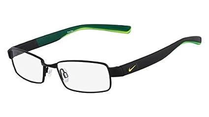 amazon com nike eyeglasses 8167 012 satin black crystal volt 51mm