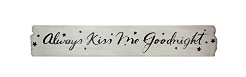 (Young's Wood Always Kiss Me Goodnight Decorative Sign, 40