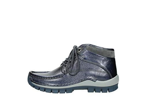 Cw Cuir Chaussures Bleu Winter Lacets Wolky Cross Metallic Comfort À 81800 Yx8wF7P