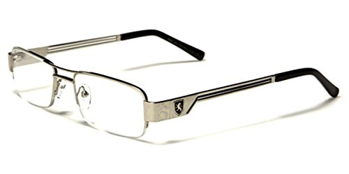 Semi-Rimless Rectangle Reading - Reading Glasses Cheap Rimless
