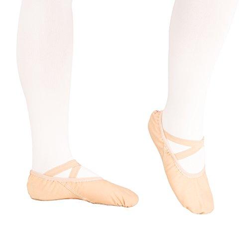 Zapatillas de baile para mujer (tejido suave, disponible en varias tallas) Rosa claro