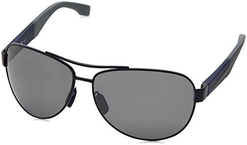 Hugo Boss lunettes de soleil aviateur active en gris bleu mat BOSS 0915/S 1XS 65 Mtblue Grey