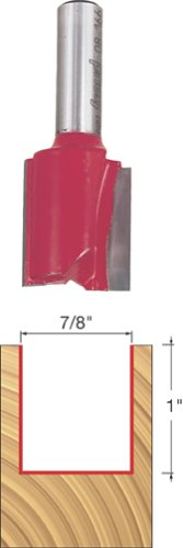 Freud 08-166 7/8-Inch Diameter by 1-Inch Double Flute Straight Router Bit with 3/8-Inch Shank ()
