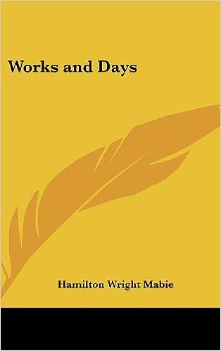 Téléchargez les livres électroniques en allemand Works and Days PDF 0548022291