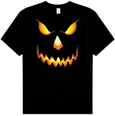 Wolfman Cheap Costume (PUMPKIN HEAD Scary Halloween Costume Adult T-shirt Tee Shirt, Medium,)