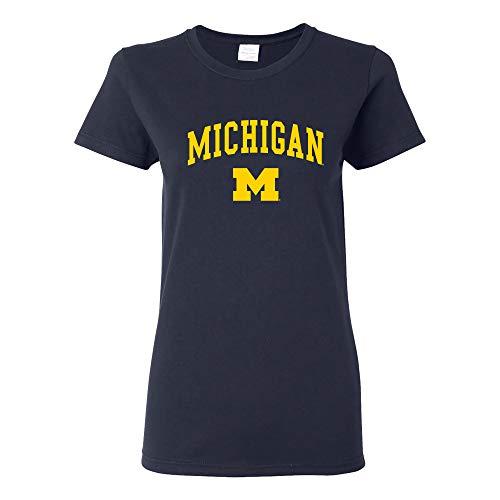 UGP Campus Apparel NCAA Arch Logo, Team Color - Playera para Mujer, Azul Marino (Michigan Wolverines Navy), XXXL