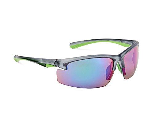 para nbsp;– sol hombre Protección 400 mujer y mat rojo grey negro Dice Gafas UV de nbsp;protección green nbsp;Gafas deportivas dark gYvw4dq