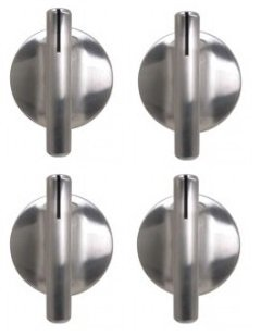 74007918 – 4クロームノブFits Whirlpoolオーブン/範囲4 Lot   B00VGTT32K
