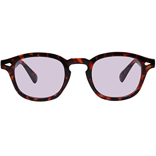 Bestum Inspired Square Sunglasses With Rivets Tinted Lens UV400 (Tortoise shell, A Pink)