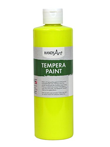 Handy Art Tempera Paint 16 ounce, Fluorescent Yellow ()