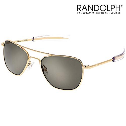 Aviator Sunglasses for Men or Women - Randolph Engineering Sunglasses - Guaranteed for Life, Built to Military Specifications. Authentic Pilot Aviators. Made in USA. 23k Gold, Cobalt Blue P 55mm (Sonnenbrille Aviator Schwarz)