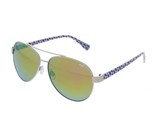 Vast UV Protection Aviator Unisex Sunglasses ( PV287GRSL|Mirror Lens)